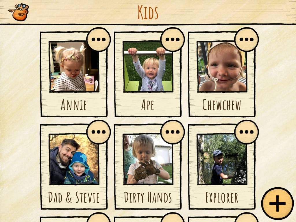 Custom images and sounds in an album for your kids ready to play.