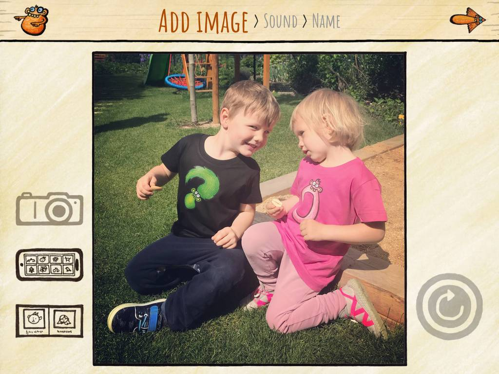 Take custom photos for your kids to play.