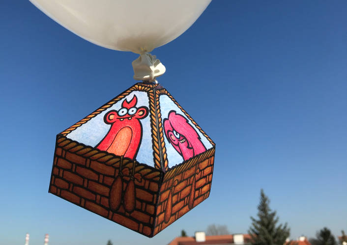 Create your own Edzee hot air balloon!